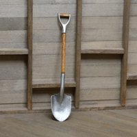 Antique short handle round nose shovel